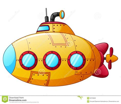 cartoon yellow boat cartoon yellow submarine stock vector illustration of