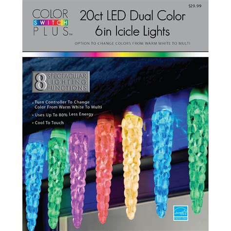 color switch plus lights color switch plus 20ct dual color large icicle led