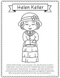 Women In History Helen Keller And Coloring Pages On Pinterest Helen Keller Coloring Page