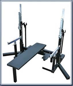 er combo squat bench rack