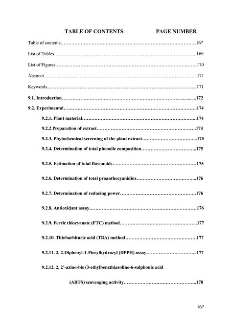 research paper table of contents exle of table of contents research paper