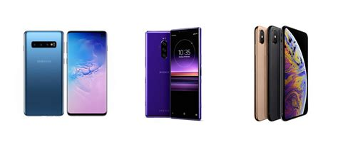 comparing the galaxy s10 and the xperia 1 to the iphone xs max