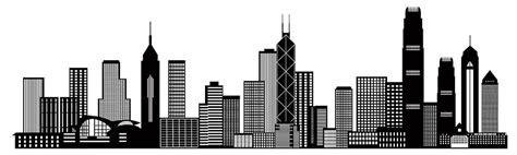 Nyc Duvet Hong Kong City Skyline Black And White Illustration
