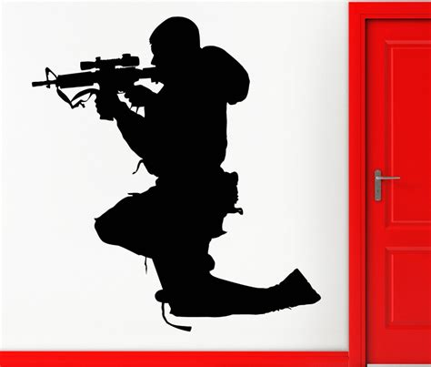 Wall Mural Stencils sniper silhouette www imgkid com the image kid has it