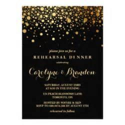 black and gold invitations announcements zazzle