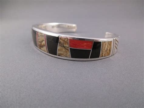 how to make inlay jewelry multi inlay cuff bracelet featuring coral tim