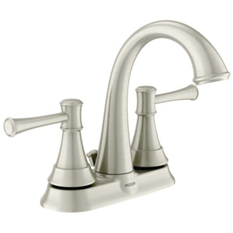Brushed Nickel Bathroom Faucets by Moen Ashville Microban Two Handle High Arc Bathroom