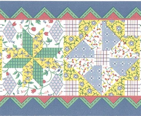 Patchwork Borders - 17 best images about wall paper on gardens
