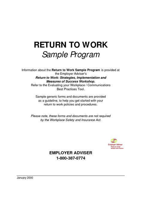 back to work template best photos of generic return policy template return to