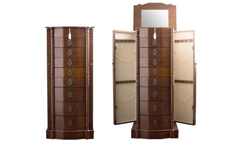 jcpenney warm walnut jewelry armoire hives and honey jewelry armoire groupon goods