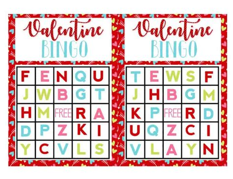 printable alphabet bingo valentine s activities for preschoolers alphabet bingo
