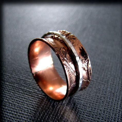 1000 images about copper rings on leaf ring