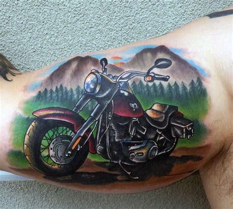 Motorrad Club Namen by 60 Motorcycle Tattoos For Men Two Wheel Design Ideas