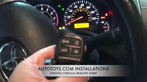 toyota corolla remote start installation  demostration