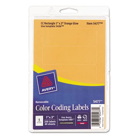 printable removable stickers ave05477 avery printable removable color coding labels zuma