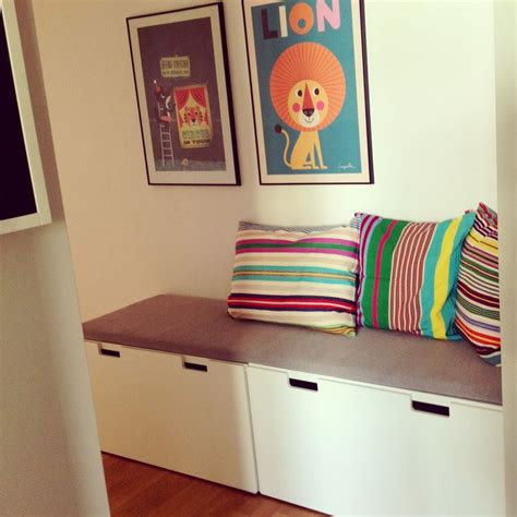 ikea stuva bench hallway bench made by ikea stuva with afroart pillows