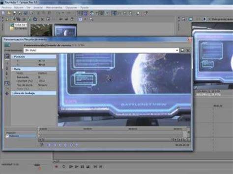 tutorial de sony vegas pro 9 0 en español tutorial sony vegas 9 0 pro recorte de evento