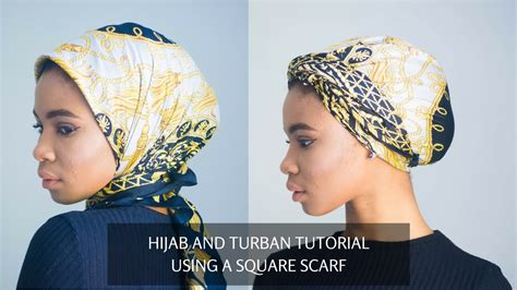 turban tutorial with square scarf hijab and turban style using a square scarf youtube