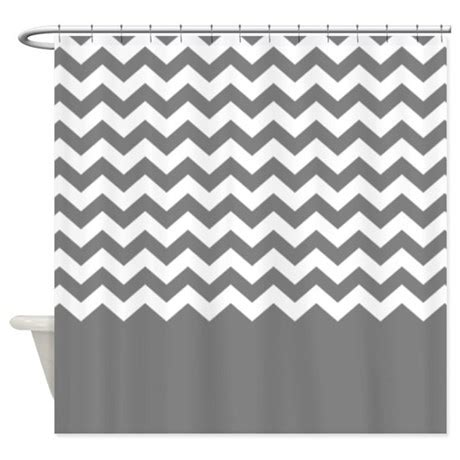 gray chevron shower curtains chevron pattern gray shower curtain by marshenterprises