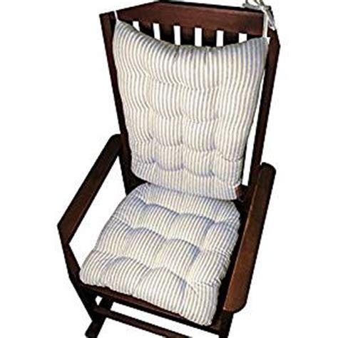 rocking chair cushion set mag ticking stripe