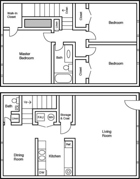 three bedroom townhouse floor plans bryant grove three bedroom townhome floor plan