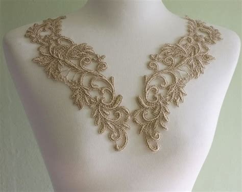 Floral Lace Pendant Charm P 277 lace applique pair gold floral lace for jewelry altered