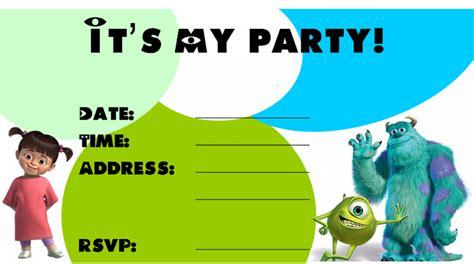 Monster Birthday Invitations Ideas Bagvania Free Printable Invitation Template Monsters Inc Birthday Invitations Template