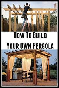 How To Build Your Own Patio by How To Build Your Own Pergola