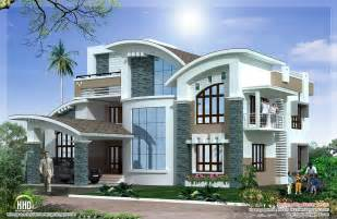 Luxury Home Plans With Photos by Modern Mix Luxury Home Design Kerala Home Design And