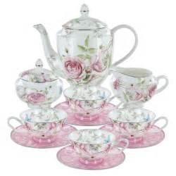 beau rose bone china tea set
