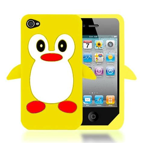 Soft Iphone 44s55s66s66s Sam 3d penguin soft thick silicone cover for apple iphone 4s 4 ebay