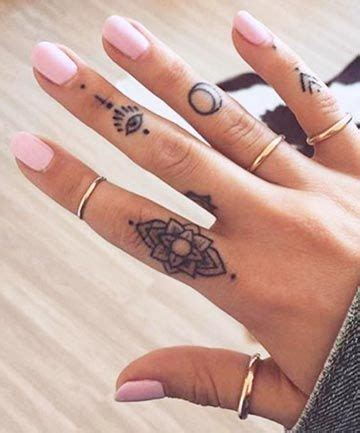 minimalist tattoo trade trade your rings for these adorable finger tattoos bling