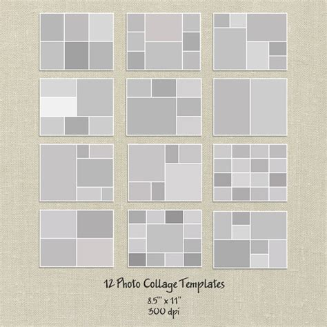 12 photo collage template 12 storyboard templates 8 5x11 photo collage templates