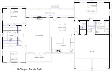 floor plan layout rectangular house floor plans design mid century modern