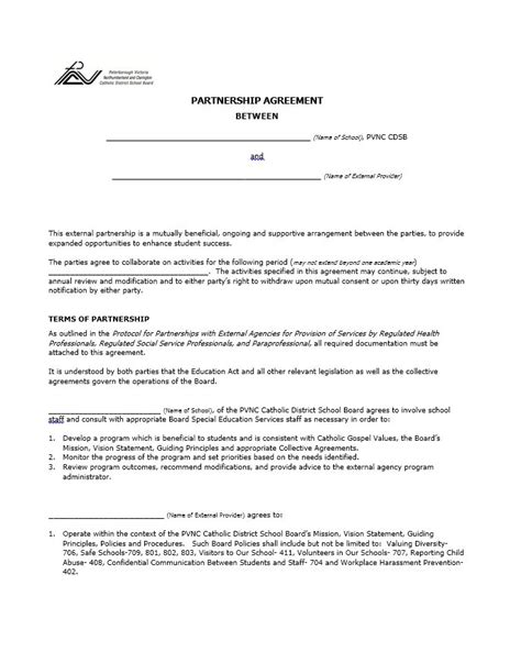 business agreement template 40 free partnership agreement templates business general