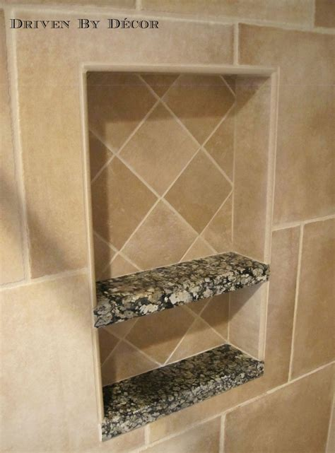 Shower Niche Shelf by House Tour Bathroom Driven By Decor