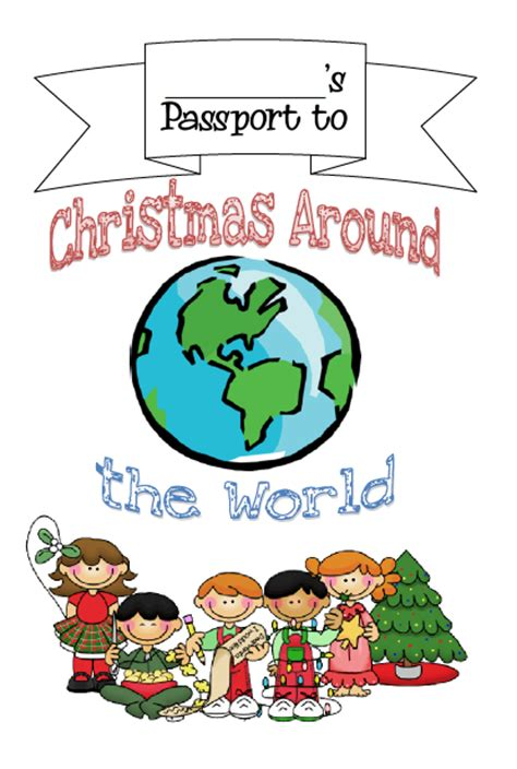 classroom freebies christmas around the world