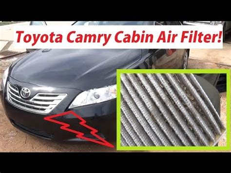 2009 Toyota Camry Cabin Air Filter by Toyota Camry Cabin Air Filter Replacement In 1 Minute