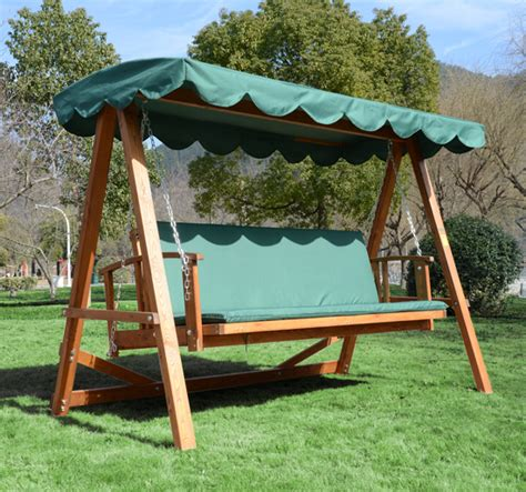wooden swing bench 3 seater wooden garden swing chair seat hammock bench