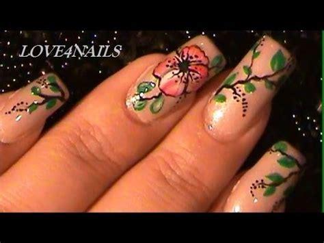 imagenes de uñas pintadas mano alzada como pintar una flor de malva roja a mano alzada youtube