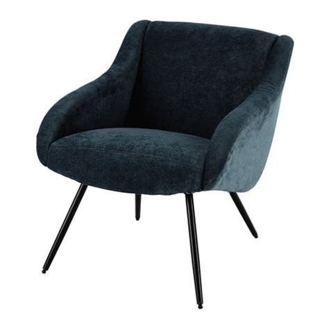 In The Blue Armchair by Fabric Vintage Armchair In Blue Joyce Maisons Du Monde