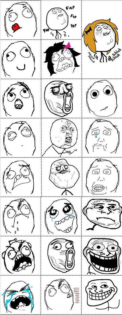 Meme Faces Comics - rage comics faces list www imgkid com the image kid