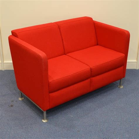 reception sofa stylish red 2 seater reception sofa
