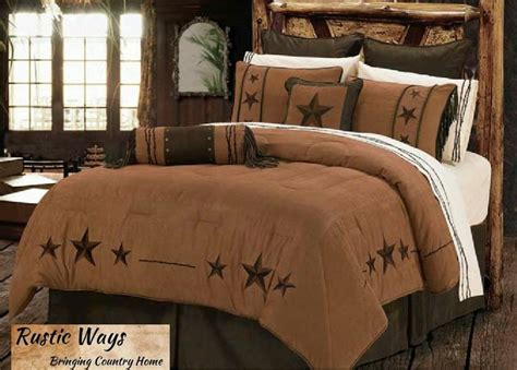 new western rustic country triple star comforter bedding