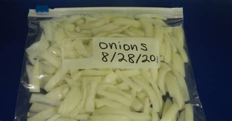 freezing onions unl food