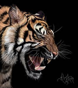 tiger digital painting by xavio design on deviantart
