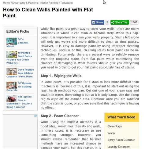 How To Clean Flat Paint Walls | 17 best images about rental house cleaning on pinterest