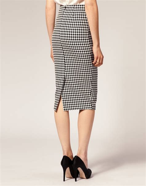 classic houndstooth pencil skirt autumn winter 2013