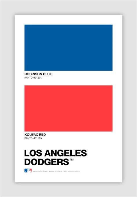 color swatch baseball pantone chips of every mlb team s designs
