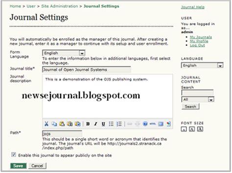 cara membuat general journal cara membuat jurnal baru pada ojs blog tentang jurnal